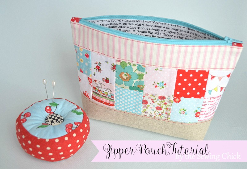 The Sewing Chick Zipper Pouch Tutorial